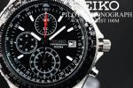 1円×大量10本SEIKO洗練された美しさブラックパイロットクロノ
