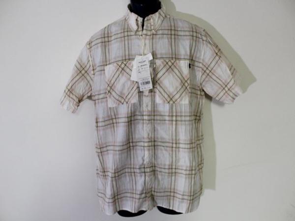 パシフィックコースト PACIFIC COAST メンズ半袖チェックシャツ Lサイズ 新品_画像1