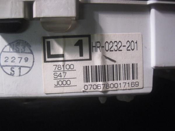 【26724】 RF1 ステップワゴン スピードメーター 159426km ⑥_画像2