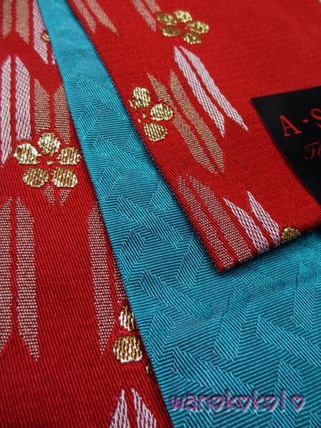【和のこころキッズ】卒業式に◇可愛い袴下帯◇赤系・梅603_画像2