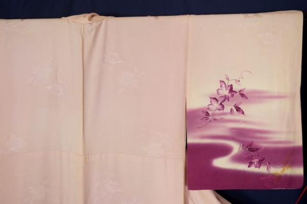 絹100% 紋意匠縮緬 手描き暈し染訪問着  誂仕立 中古品_画像7
