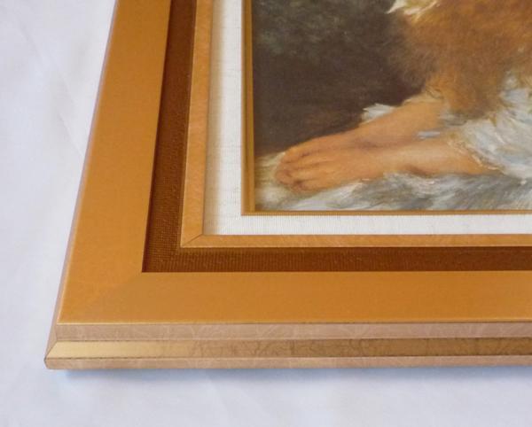 複製名画 ルノアール 「イレーヌ」-2-新品-即決-_画像2