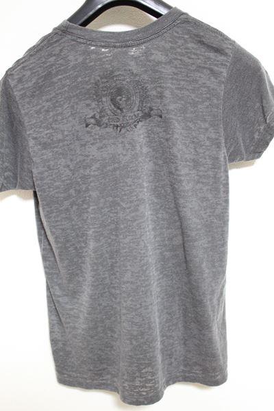 サディスティックアクション SADISTIC ACTION メンズバーンアウト半袖Tシャツ チャコール Sサイズ 新品_画像3