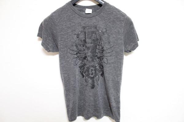 サディスティックアクション SADISTIC ACTION メンズバーンアウト半袖Tシャツ チャコール Sサイズ 新品_画像2