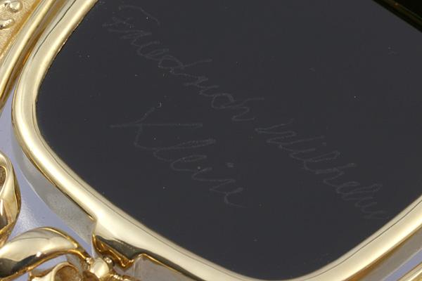 F.W.Klein K18 メノウ カメオ ダイヤ ブローチ 美品 送料無料【c54】 † Friedrich Wilhelm Klein 瑪瑙 ペンダントトップ オニキス?_画像7