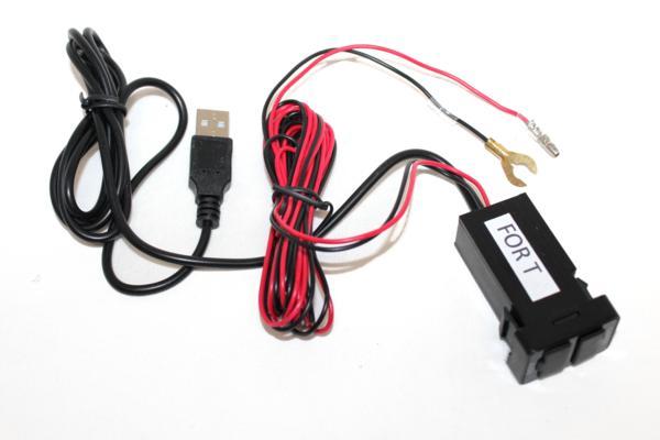 ★送料込★トヨタ純正風USB接続通信ケーブル+充電チャージ アクア/アルファード/ウイッシュ/ヴェルファイア/ヴォクシー/VOXY USB-T_画像3