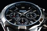 1円×10本 新品 未使用 本物 正規 元HAMILTON傘下 米国SEIKO セイコー 美しいIPブラック加工 PULSAR 腕時計 クロノグラフ 腕時計 50m防水