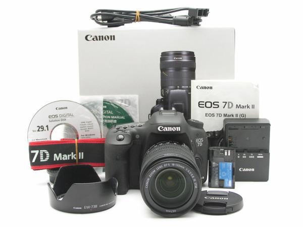 ★ハロ-カメラ★5007 Canon EOS 7D Mark Ⅱ( EF-S 18-135mm/3.5-5.6 IS STM) Kit 箱 CD説付 動作品