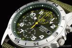 1円 セイコー SEIKO ミリタリー 緑 グリーン 100m防水 クロノグラフ 腕時計