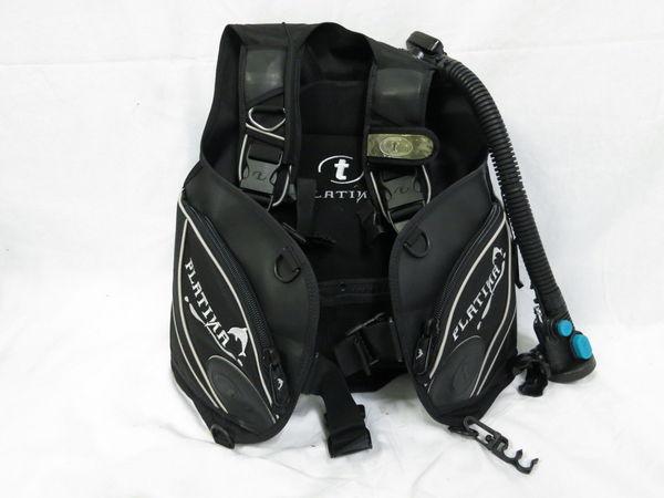 [美品1円] TUSA ツサ ダイビング BCジャケット PLATINA サイズ ブラック_画像2