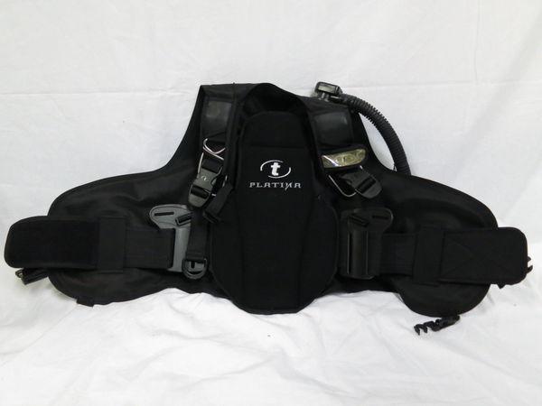 [美品1円] TUSA ツサ ダイビング BCジャケット PLATINA サイズ ブラック_画像6