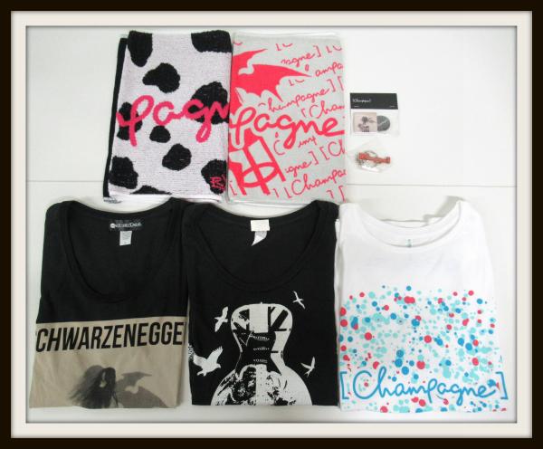 [champagne] Tシャツ&タオル +キーホルダー&バッジ セット/Schwarzenegger/2012/[Alexandros]/【10