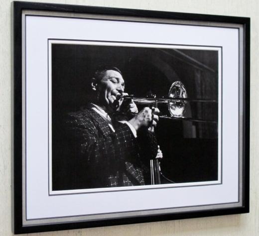 ジャック・ティーガーデン/アートピクチャー額装/JACK TEAGARDEN/トロンボーン・グレート/ディキシーランド/Dixieland Jazz