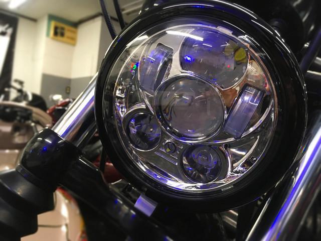 XL1200X フォーティエイト フォーティエイト ショットガンマフラー バンスオートチューン LEDヘッドライト_画像5