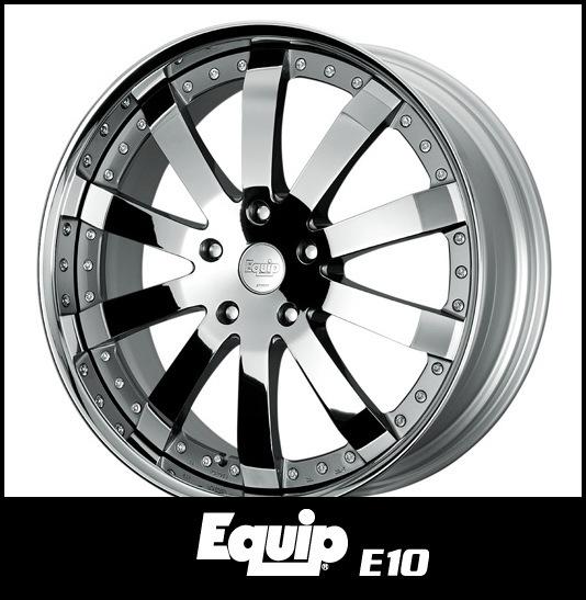 【1本価格】WORK Equip E10 段リム 19×15J 5H-114.3(CBS)_画像1