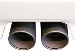 【M's】R55 R56 ミニ/Forte Tail マフラーカッター(ブラック)_画像2