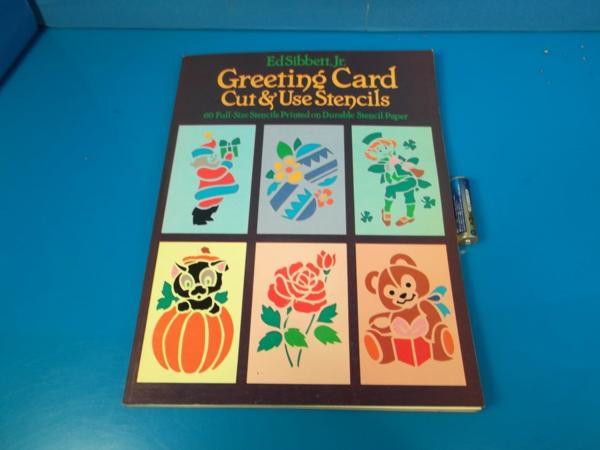 1984年 Greeting Card Cut&Use Stensils Edsibbett_画像1