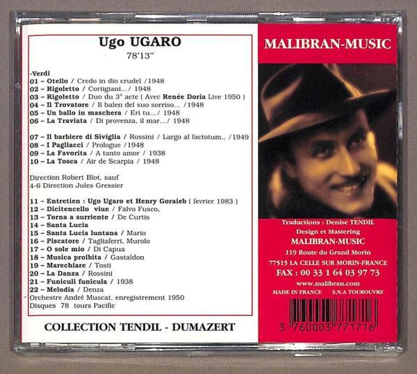 未開封 ◇ ウガーロ / イタリア オペラアリア (CD)_画像2