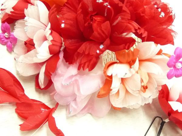 まゆの四季/日本製/髪飾り/成人式/振袖/七五三/花飾りリボン-5_画像4