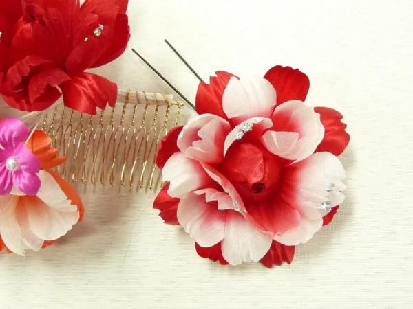 まゆの四季/日本製/髪飾り/成人式/振袖/七五三/花飾りリボン-5_画像5