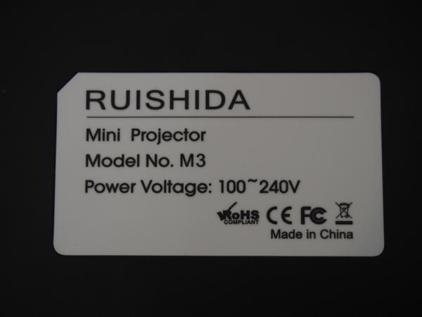 RUISHIDA ミニプロジェクター LED M3 リモコン付 未使用品_画像5