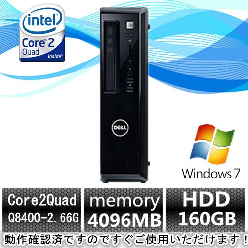 Windows7 Pro/DELL Vostro 230s Core2Quad Q8400 2.66G/4G/160GB_画像1