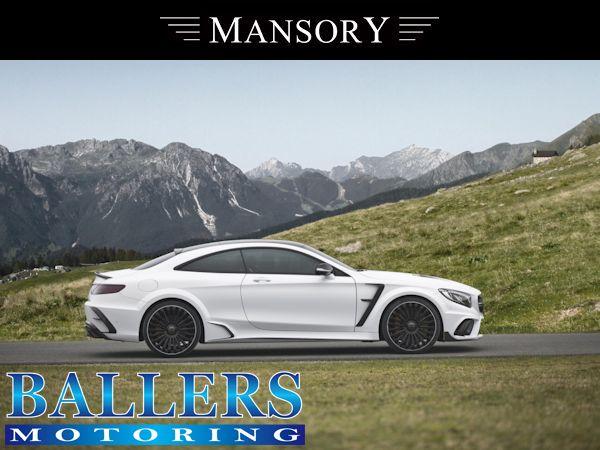 MANSORY BENZ W217 Sクーペ サイドスカート + カーボンリップ Visible Carbon ( サイド 外装 エアロ )_画像3