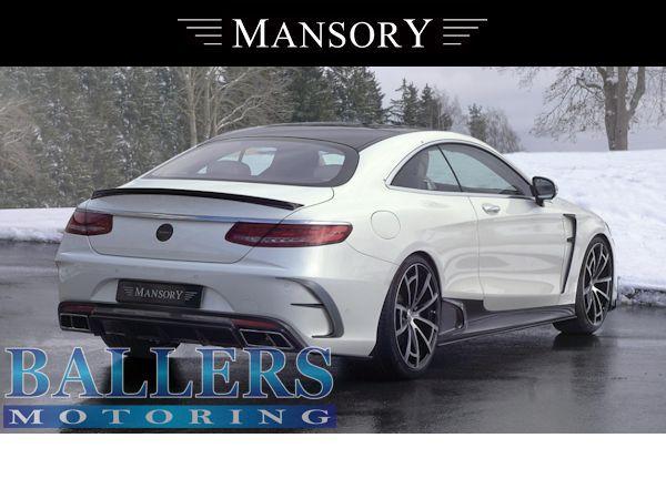 MANSORY BENZ W217 Sクーペ サイドスカート + カーボンリップ Visible Carbon ( サイド 外装 エアロ )_画像4