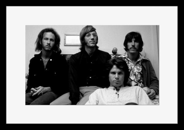BW:人気ロックバンド!ドアーズ/The Doors/モノクロ写真フレーム-2