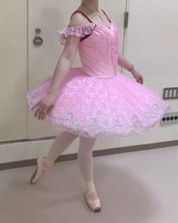 送料無料♪大人Lバレエ舞台衣装♪ピンクお姫様系♪8層チュチュ♪_画像2