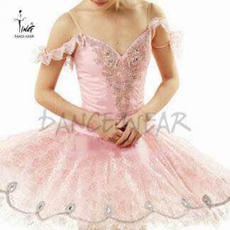 送料無料♪大人Lバレエ舞台衣装♪ピンクお姫様系♪8層チュチュ♪