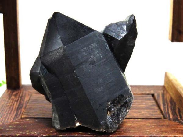 チベット産天然モリオン(黒水晶)クラスター122C3-35C21c