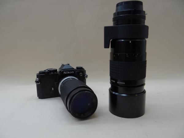 ジャンク★ニコン・FE★ニコン・MF12★ニコン・75-150mm F3.5★ニコン・300mm F4.5★H0662