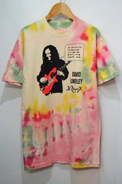 【即決】80's DAVID LINDLEY タイダイTシャツ El Rayo-X HANES Coca-Cola ジャクソン・ブラウン バンドT ヴィンテージ ビンテージ USA古着