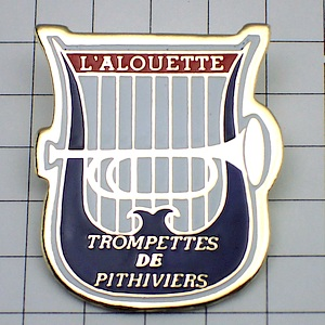 限定レア◆ピンバッジ◆トランペット楽器ライアー竪琴ピンズフラ
