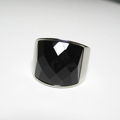新品 ステンレス 耐久性 輝き長持ち ブラックストーン 指輪リング_画像7