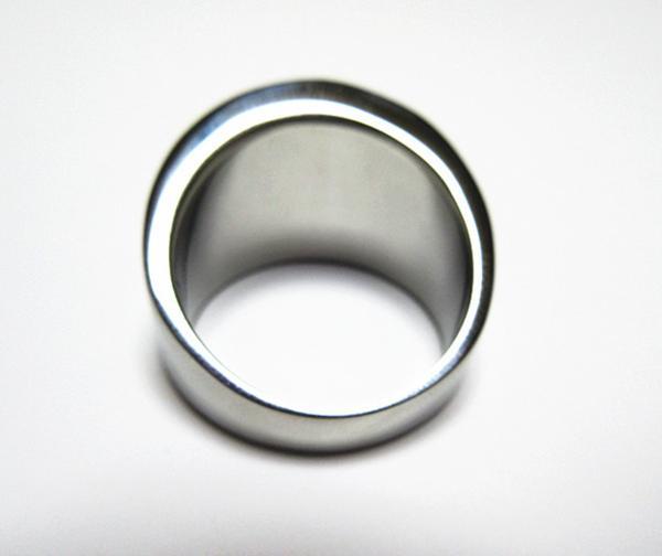 新品 ステンレス 耐久性 輝き長持ち ブラックストーン 指輪リング_画像5