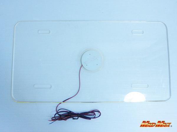 LEDアクリル ナンバーフレーム 大型車用 24V ブルー/レッド発光_画像2