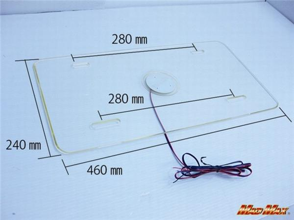 LEDアクリル ナンバーフレーム 大型車用 24V ブルー/レッド発光_画像3