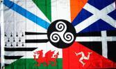 海外限定ケルト国アイルランドスコットランドマン島特大フラッグ