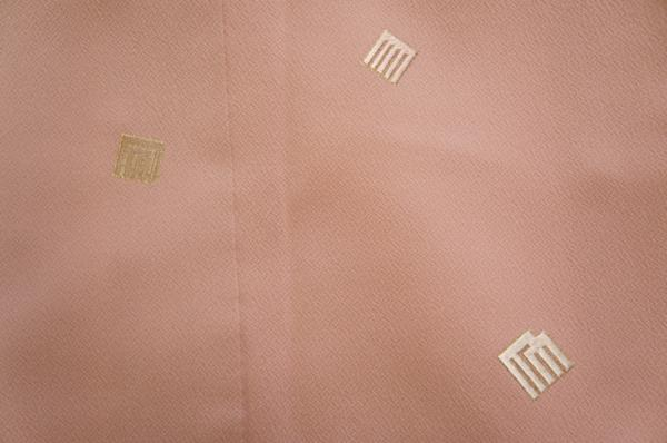 特選紅ねず色刺繍源氏香模様附下美品H4975_紅ねず色刺繍源氏香模様附下美品