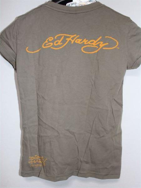 エドハーディー ED HARDY レディース半袖Tシャツ XSサイズ カーキ 新品_画像4