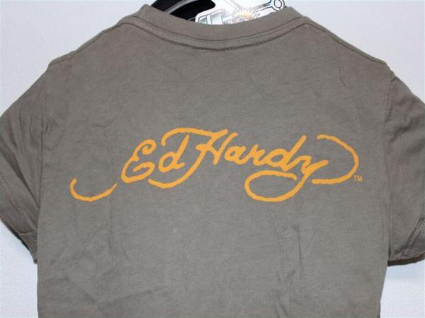 エドハーディー ED HARDY レディース半袖Tシャツ XSサイズ カーキ 新品_画像5