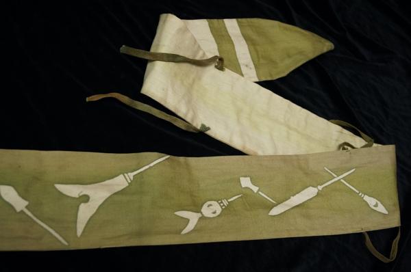 山本香雲(日本画家) 愛用の弓と弓袋 佐川急便着払 0321M3G※_画像5