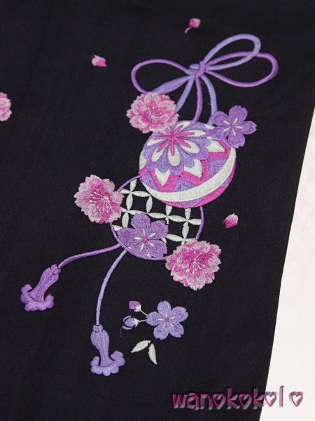 【和のこころキッズ】卒業式に◇ぼかし刺繍袴◇E紫系◇87cm_画像2