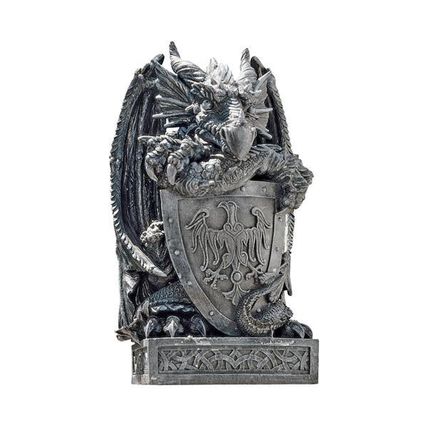 シールド(盾)を持ったアーサー王のドラゴン彫像/ Design Toscano Shield, the Arthurian Dragon Statue(輸入品_画像2