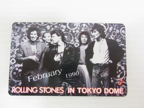 ■ ローリングストーンズ ROLLING STONES 東京ドーム テレホンカード 50度数 未使用 定形郵便発送可 ライブグッズの画像