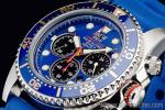 1円 ブルー&ゴールド 上級ソーラー ダイバー 200m防水【回転(逆回転防止)ベゼル】 クロノグラフ 腕時計