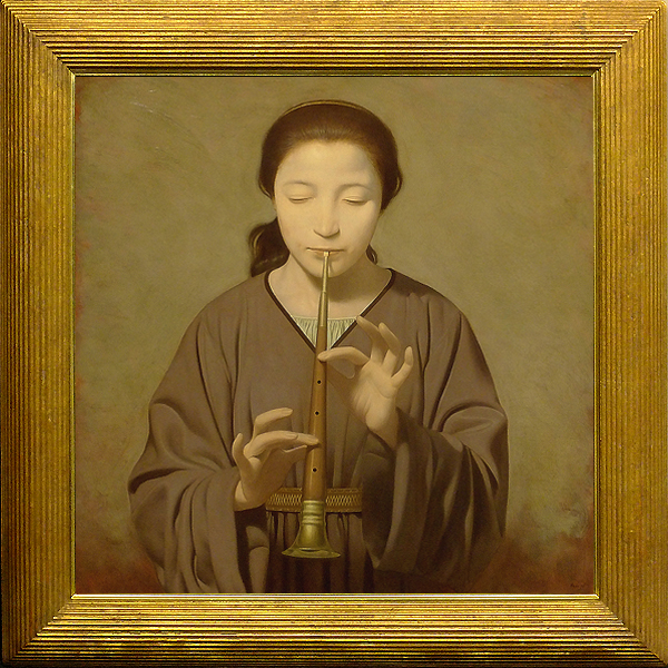 【GLC】北浩二 「女性像」 油彩S12号 無所属 師:青木敏郎・鴨居玲 リアリズム女性像人気画家
