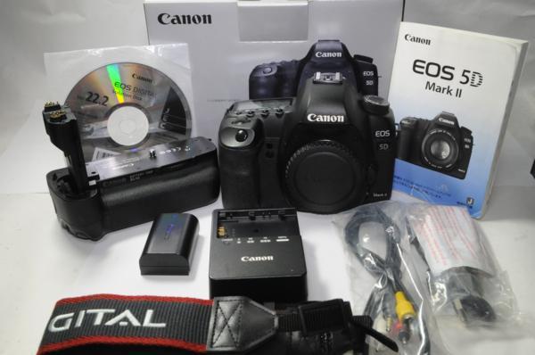 キヤノン EOS 5D Mark ⅡBG-E6 グリップ付 ボディー フルサイズ Canon [管309B] 新着